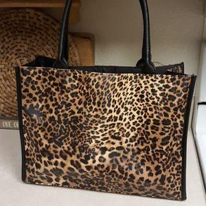 Leopard tote EUC